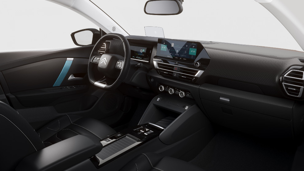 """El Citroën ë-C4 está equipado con un cuadro de instrumentos digital y una pantalla táctil 10""""."""
