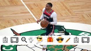 Russell Westbrook durante el partido ante los Celtics
