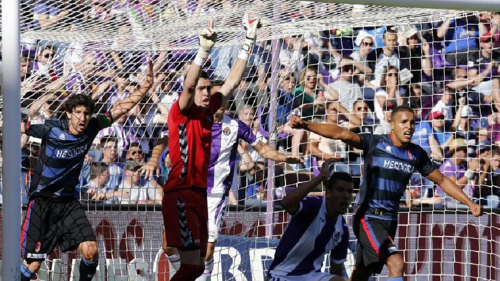 El momento en el que el Granada marca al Valladolid en Zorrilla el 0-1.