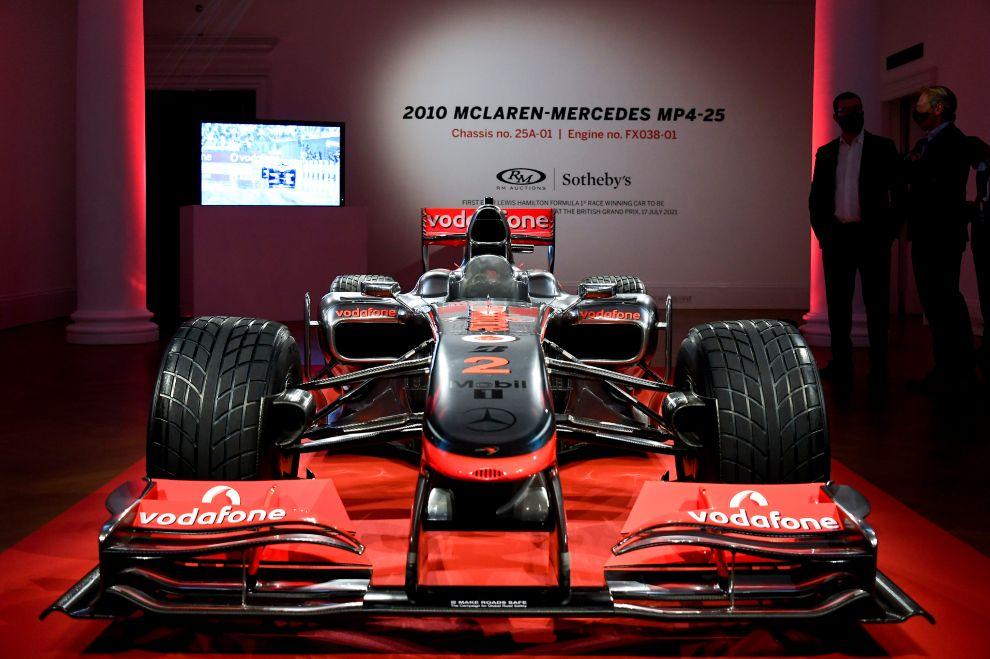 Lewis Hamilton - subasta - McLaren MP4-25A - Gran Premio Gran Bretaña - Silverstone - Fórmula 1