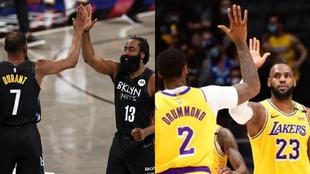 Brooklyn Nets y Los Angeles Lakers, los dos grandes favoritos en las...