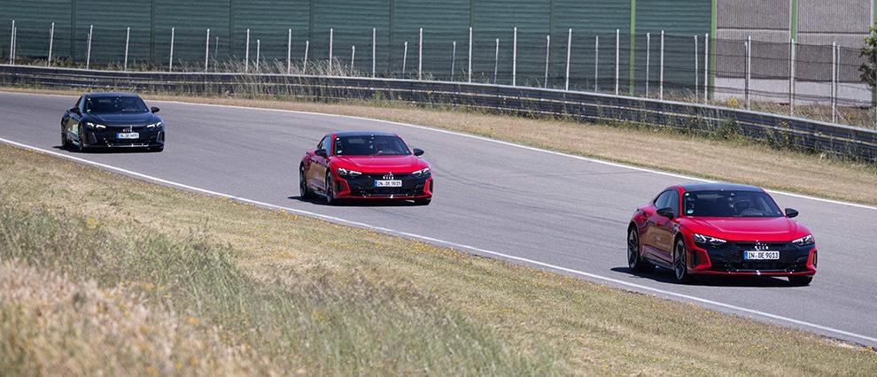 El RS e-tron GT eléctrico requiere adaptar la conducción en circuito.