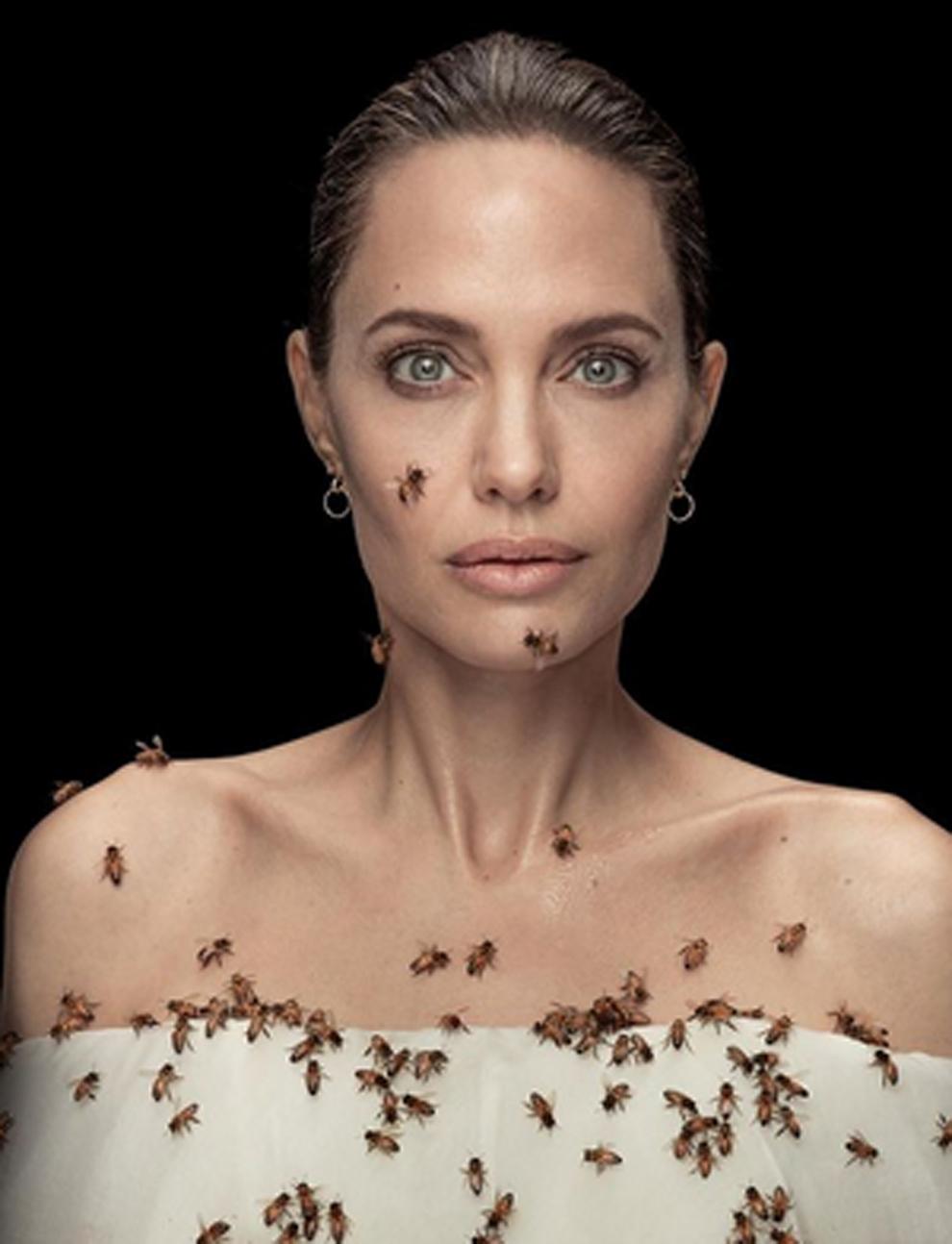 Angelina Jolie cubre su cuerpo con abejas: tres días sin ducharse para aguantar 18 minutos sin picaduras