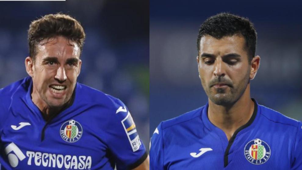 Jaime Mata y Ángel, en dos secuencias de sendos partidos de esta temporada.