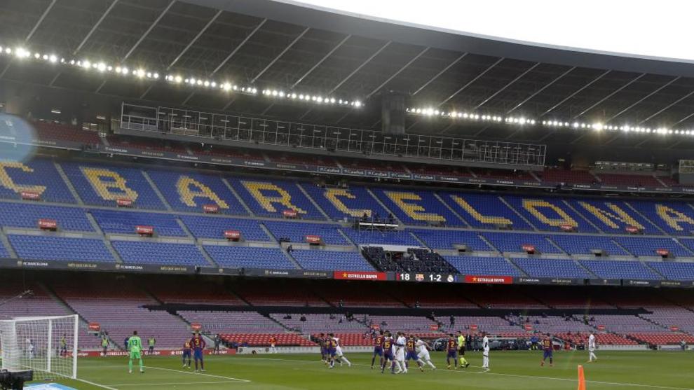 El Clásico, disputado en el Camp Nou, sin público en las gradas