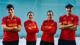 Antonio Serrat, Anna Godoy, Miriam Casillas y Fernando Alarza.