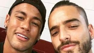 Maluma y Neymar cundo eran amigos antes del affaire Natalia Barulich.