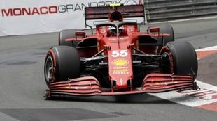 Sainz, girando en la histórica curva de Loews, en los Libres 3.