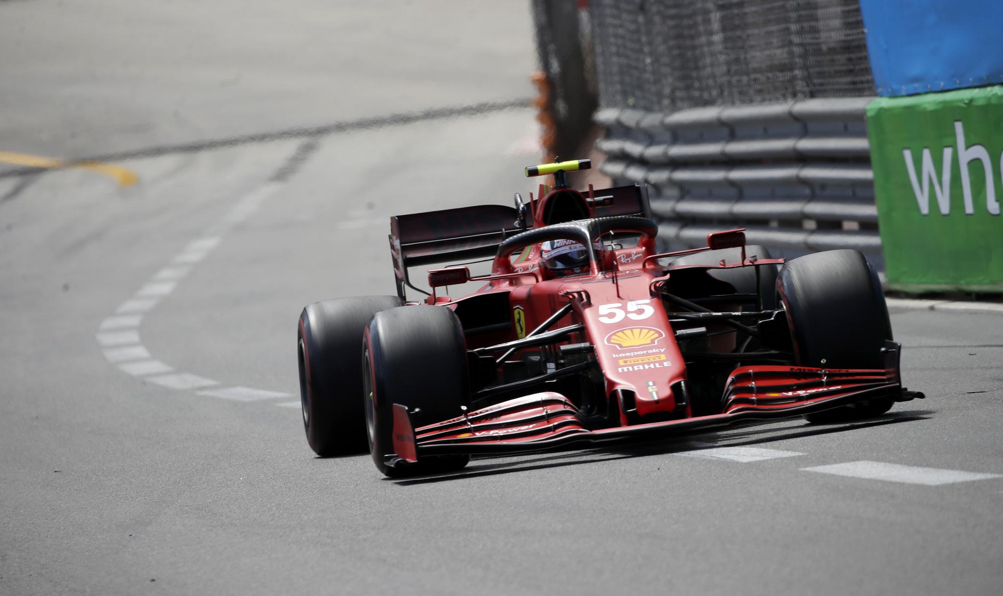 Sainz, durante el GP de Mónaco.
