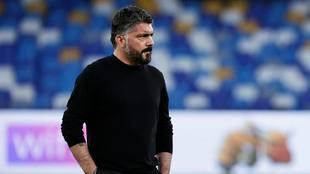Gattuso deja de ser el técnico del Napoli.