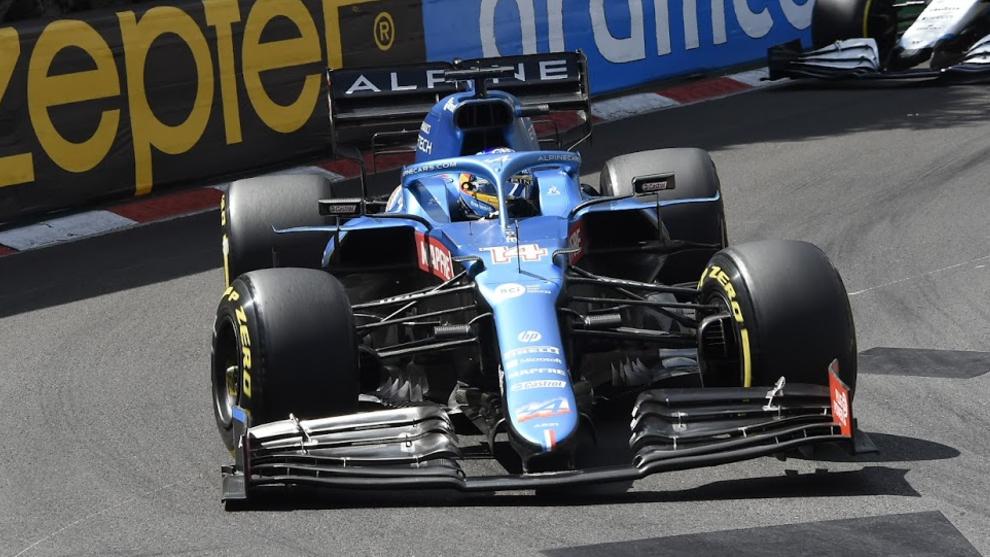 Alonso, durante el GP de Mónaco.