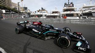 Lewis Hamilton, durante el GP de Mónaco.