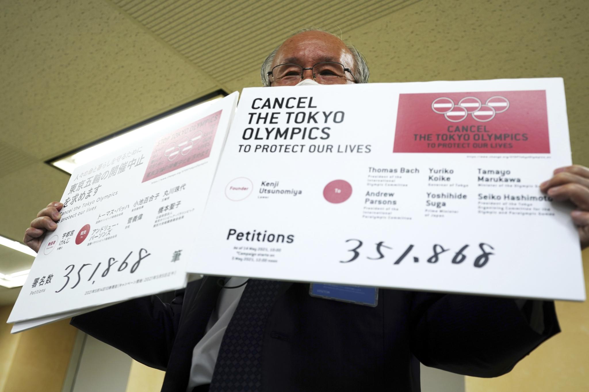 Lawyer Kenji Utsunomiya, a representative of an anti-Olympics group