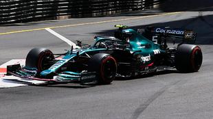 Vettel, durante el GP de Mónaco.