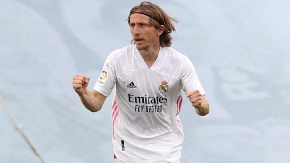 Modric, tras marcar el último gol del Real Madrid de esta temporada ante el Villarreal.