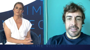 Alonso habla con Ainhoa Arbizu.