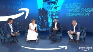 """Carlos Sainz, en la presentación de """"Vivir para competir""""."""