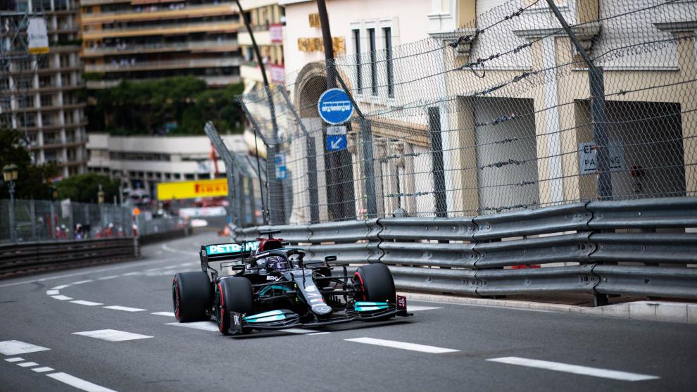 Lewis, durante el GP de Mónaco.