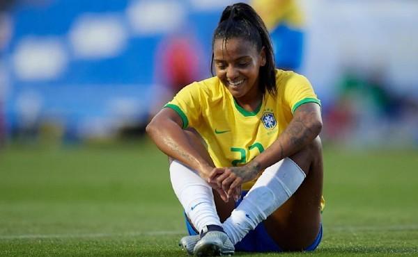 Geyse Ferreira, durante un partido con la selección brasileña.