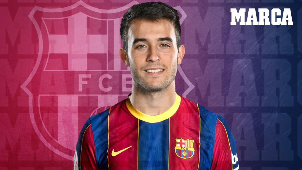 Eric, con la camiseta del Barcelona.