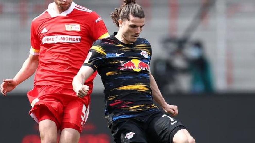 El austríaco, en un partido de este año con el Leipzig.