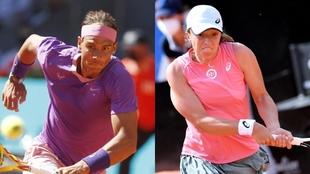 Rafa Nadal e Iga Swiatek, los dos favoritos en las apuestas para ganar...