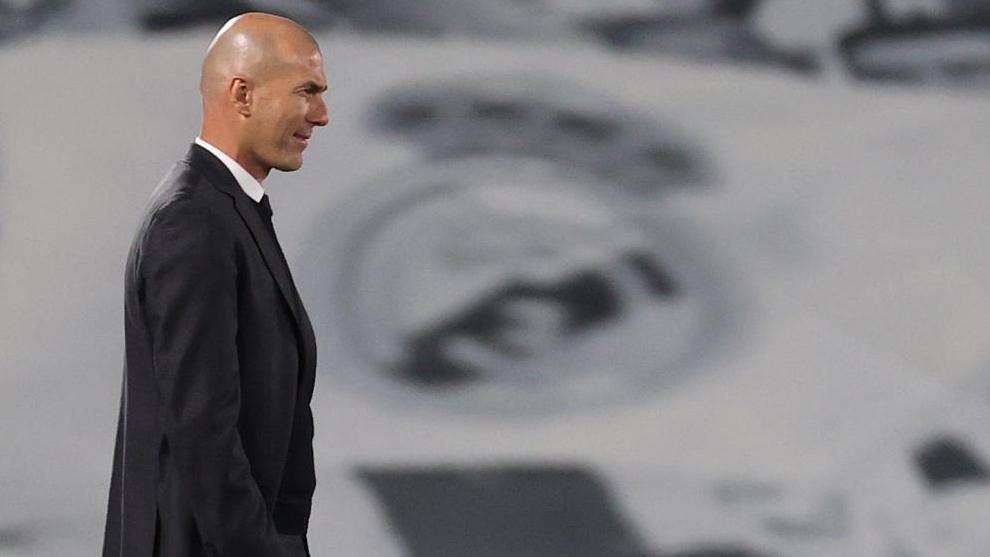 El técnico francés, en uno de sus últimos partidos al frente del Real Madrid.