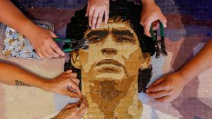 Memorial de Maradona en Buenos Aires