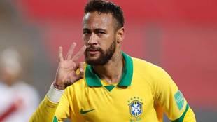 Neymar with Brazil.