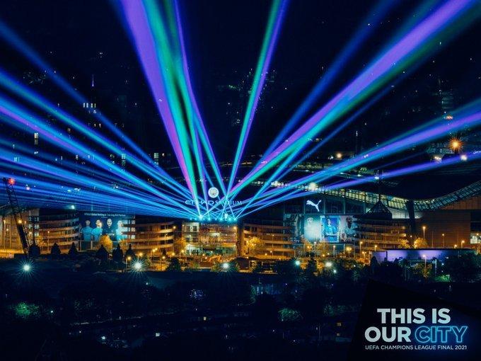 Lights at the Etihad