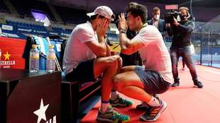 Juan Lebrón y Ale Galán, al término de su semifinal