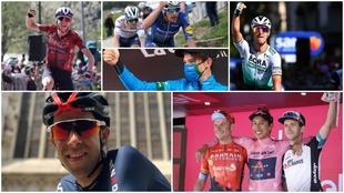 Montajo con los ocho 'mejores' de este Giro de Italia