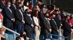 Palco de Autoridades del estadio de Butarque.