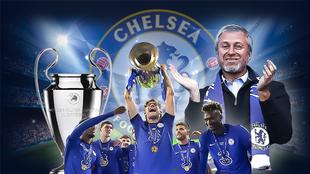 Abramovich, Azpilicueta y su obra en el Chelsea.