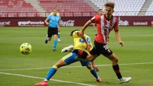 Instante del partido disputado por UD Logroñés y Las Palmas en Las...