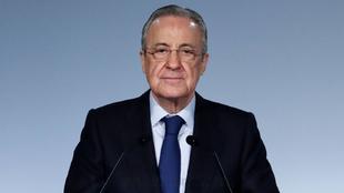 Florentino Pérez, presidente del Real Madrid y de la Superliga