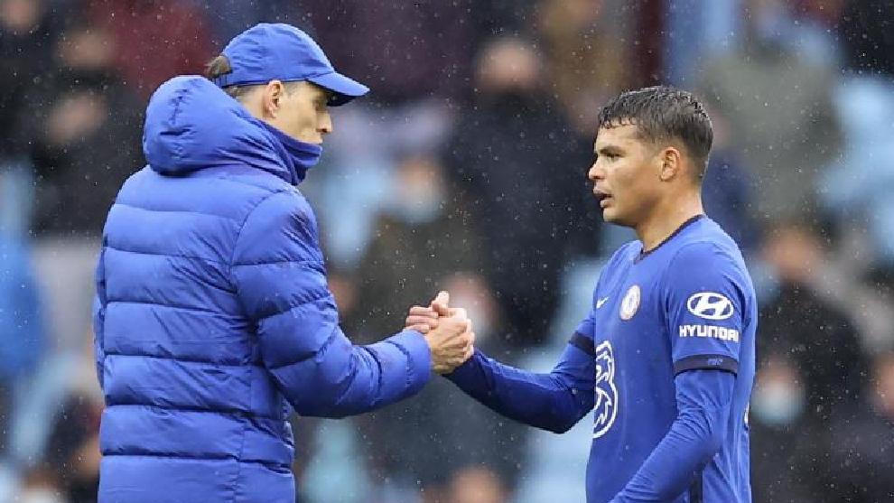 Thomas Tuchel y Thiago Silva, dos 'héroes' del Chelsea campeón.