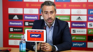 Jorge Vilda, durante una rueda de prensa.