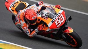 Márc Márquez, con la Honda Repsol en un GP de esta año.