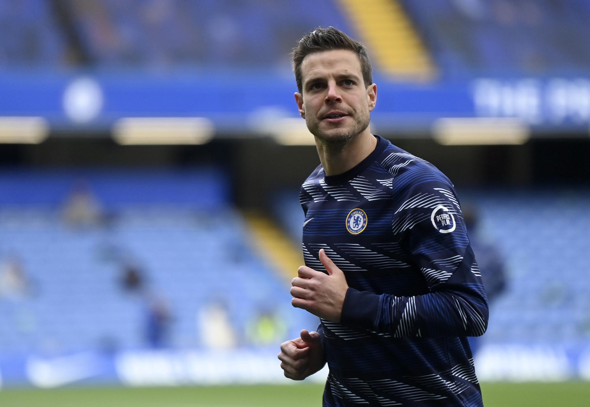Azpilicueta (31) durante un encuentro con el Chelsea.