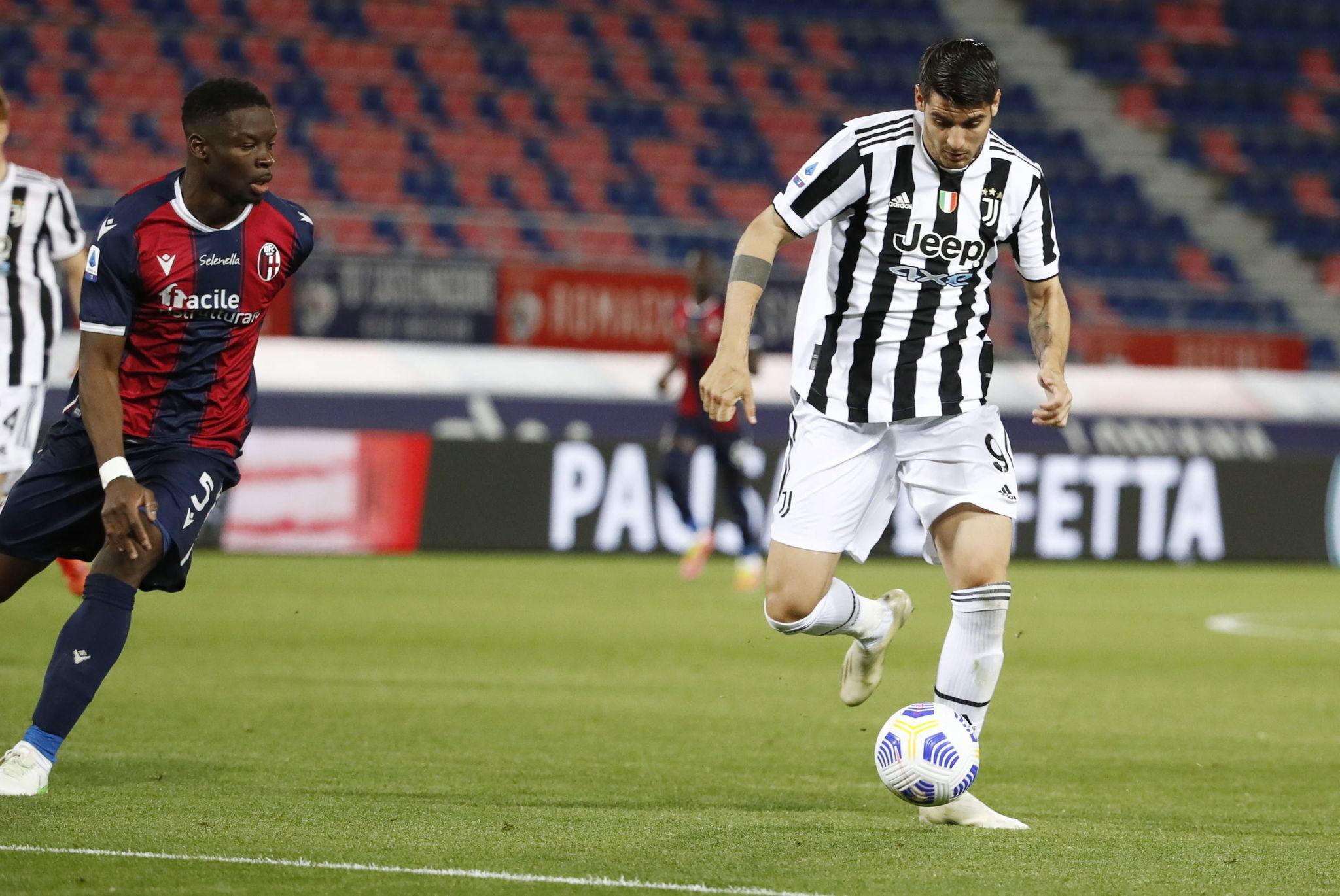 Morata (28) en un encuentro con la Juventus esta temporada.