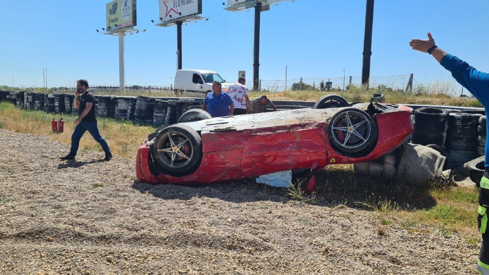 Accidente Ferrari 458 Spider - Circuito del Jarama