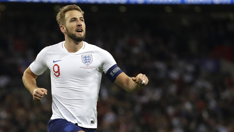 Harry Kane, con la selección inglesa.