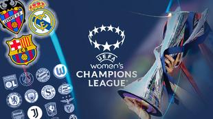 Creatividad de la nueva edición de la Champions League femenina.