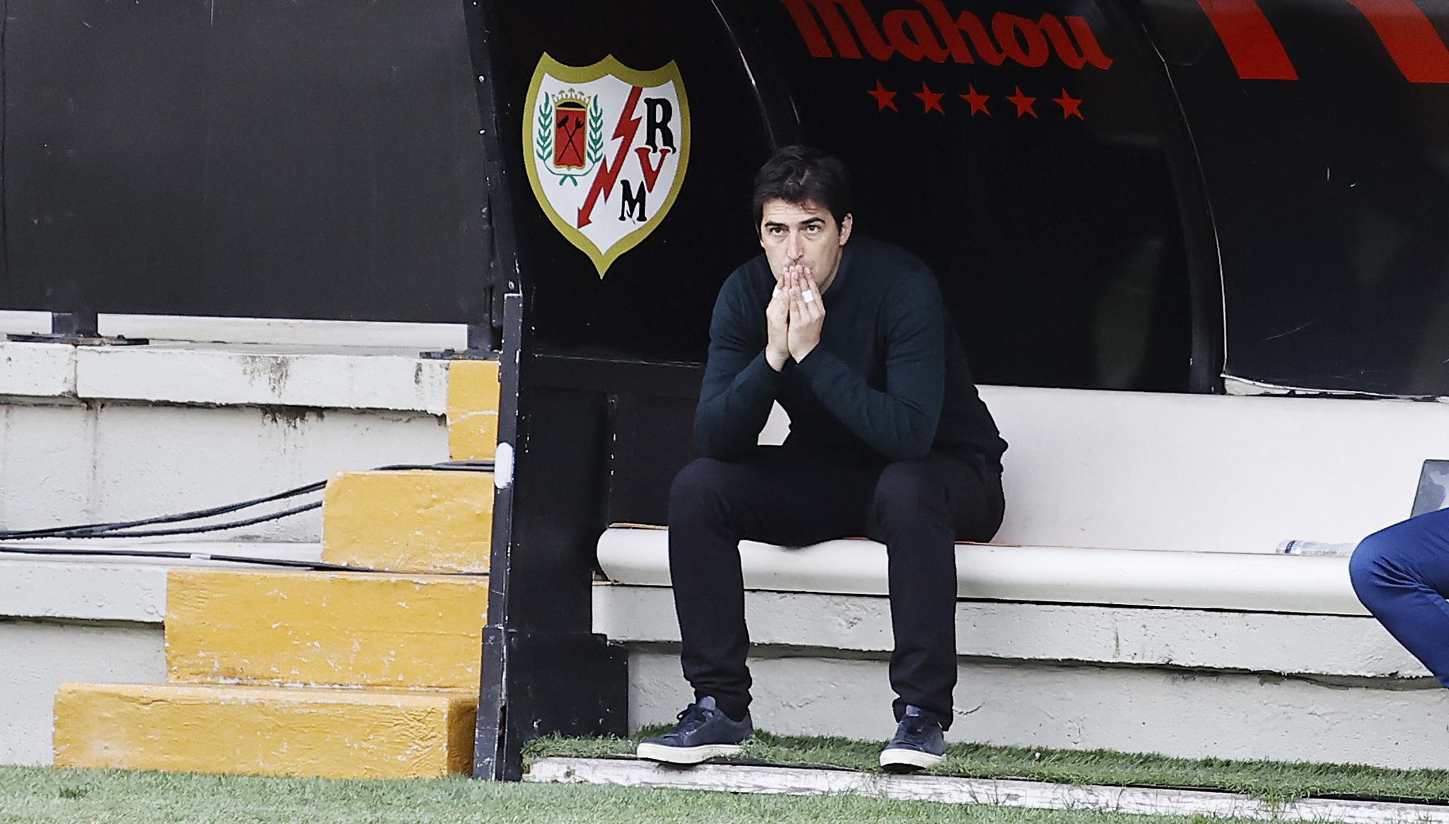 Iraola (38) durante el último choque entre Rayo Vallecano y Leganés.