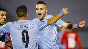 Rodríguez es titular con Uruguay en las Eliminatorias Mundialistas