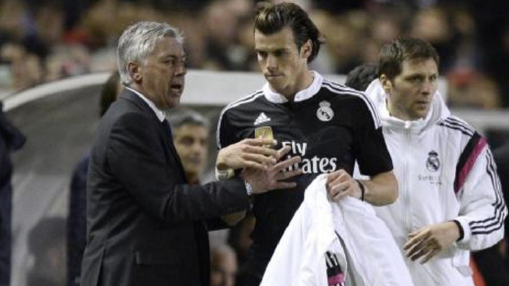 Ancelotti y Bale cuando ambos coincidieron en el Real Madrid.