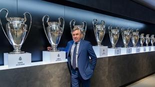Carlo Ancelotti en su presentación como nuevo entrenador del Real...