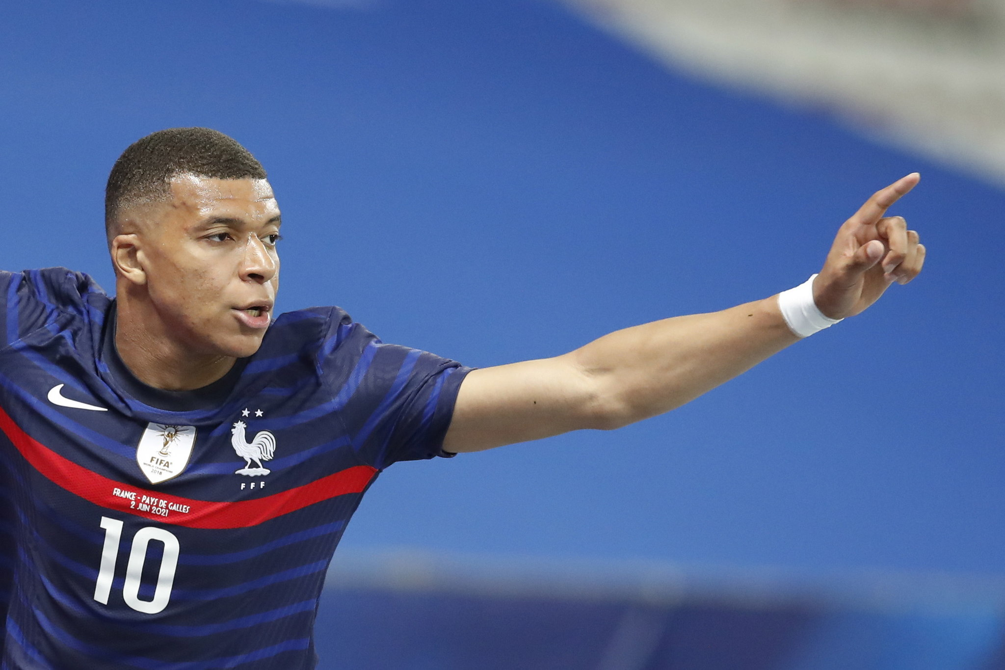 Kylian Mbappe with France