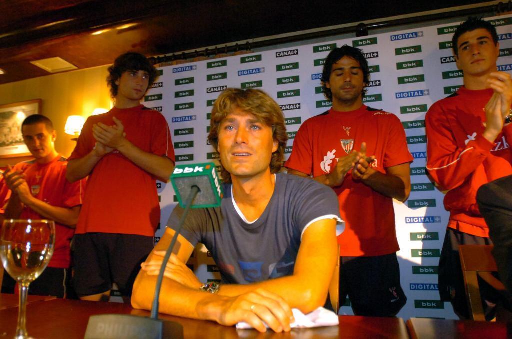 Julen Guerrero (47) el día de su despedida del Athletic Club de Bilbao